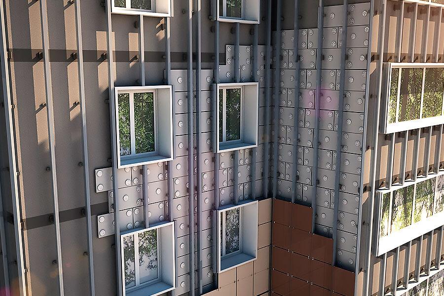 Использование вентилируемых фасадов с точки зрения энергоэффективности